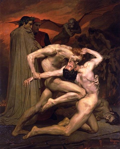 «Данте и Вергилий в аду», Вильям Бугро, 1850