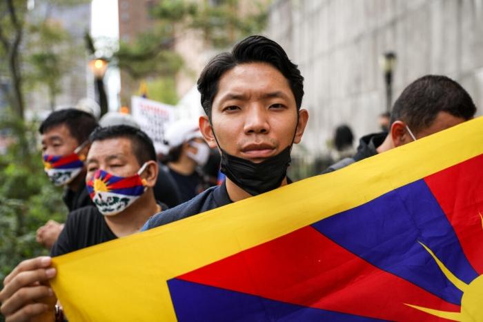 Пема Намгьял — участник акции протеста