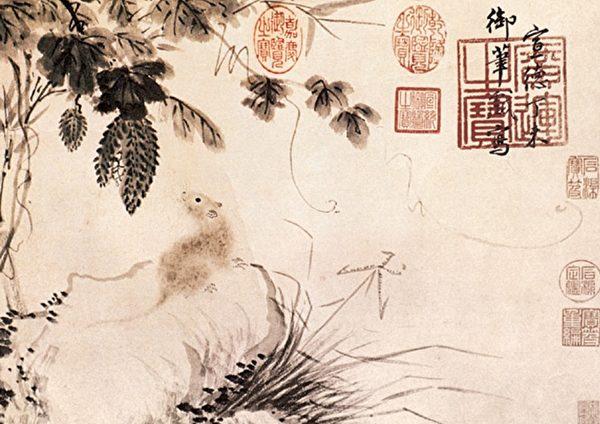 «Мышь среди момордики», Чжу Чжаньцзи, династия Мин