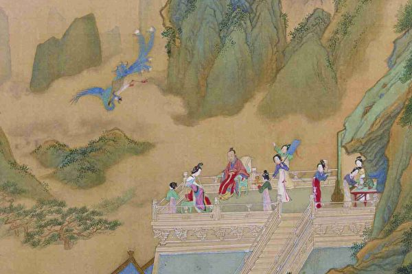 «Игра на флейте привлекла феникса», Цю Ин, династия Мин