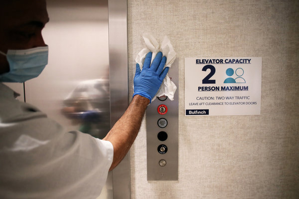 Меры профилактики против COVID-19 для лифтов в Cambridge Discovery Park