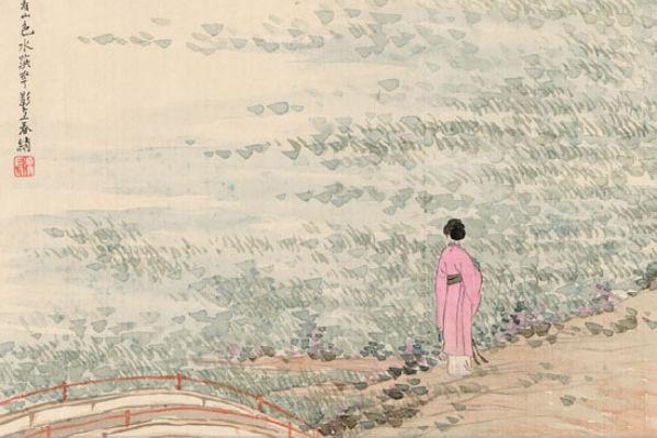 «Портрет красавицы», Жэнь Сюн, династия Цин