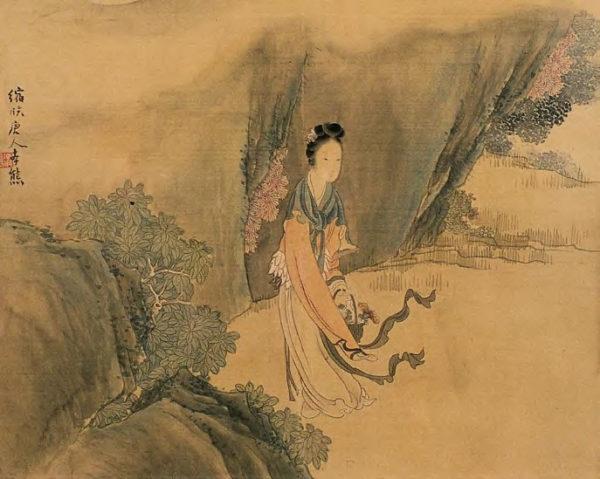«Женский портрет», Жэнь Сюн, династия Цин