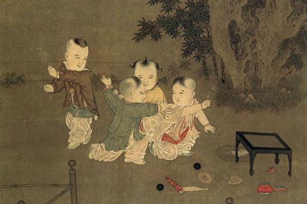 «Дети играют во дворе», династия Сун