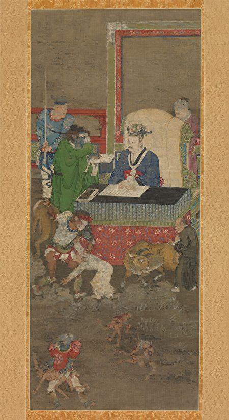 Один из «Десяти владык ада», Цзинь Чуши, династия Южная Сун