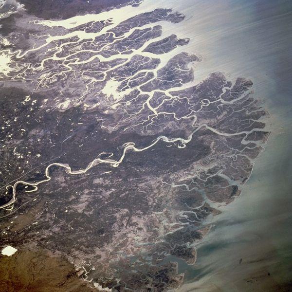 Дельта реки Инд, спутниковый снимок NASA