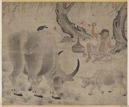 Житель царства Сун нарисовал корову и её дитя