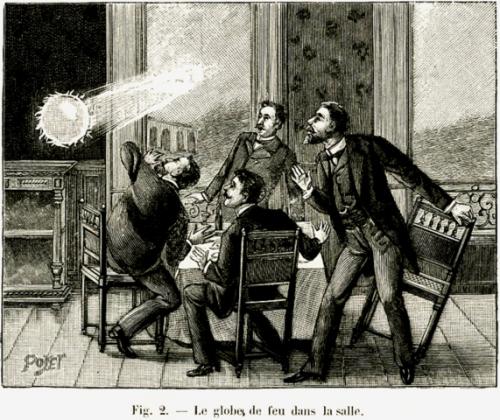 Шаровая молния на гравюре 19 века
