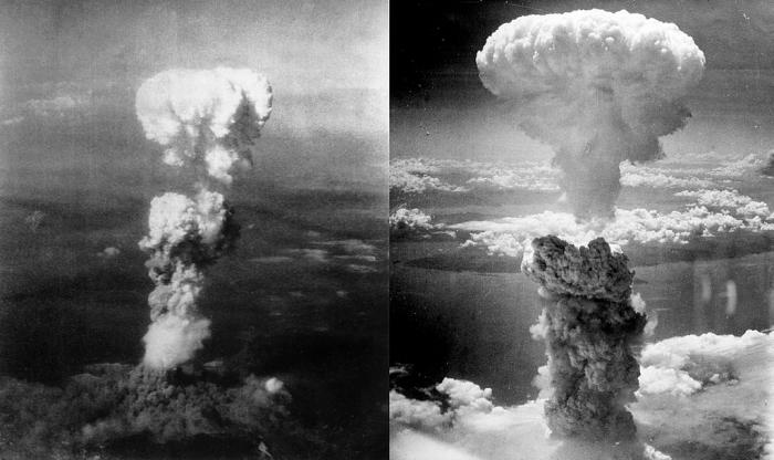 Ядерные грибы над Хиросимой и Нагасаки
