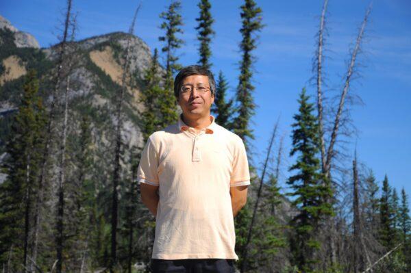 Уинстон Лю в национальном парке Банф, Канада, 2011 год