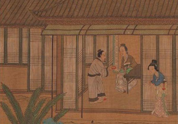 Фрагмент картины «Двадцать четыре истории о сыновнем почтении», Цю Ин, династия Мин