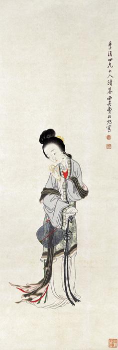 «Забавы с браслетом», Мэй Даньсюй, династия Цин