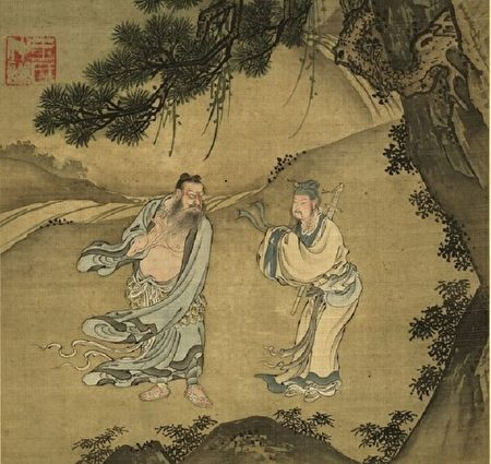 Чжунли Цюань и Люй Дунбинь (справа), Ван Чжунцянь, династия Цин