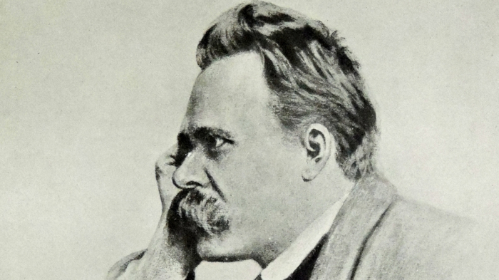 Портрет немецкого философа Фридриха Ницше (1844-1900)