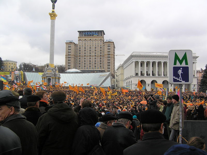 Утро первого дня Оранжевой революции
