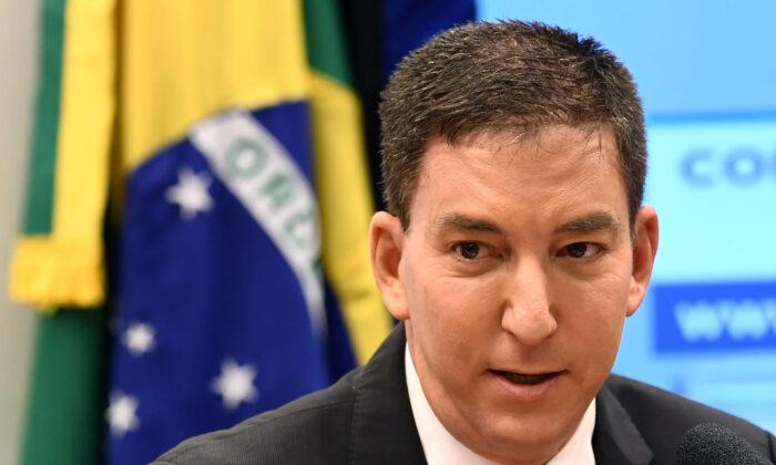Гленн Гринвальд, основатель и редактор веб-сайта The Intercept, во время слушаний в Комиссии по правам человека нижней палаты в Бразилии, Бразилия, 25 июня 2019 года