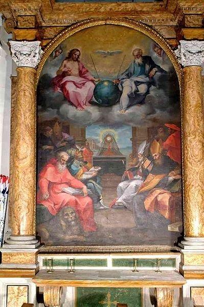 Картина «Прославление таинства Евхаристии», Вентура Салимбени.