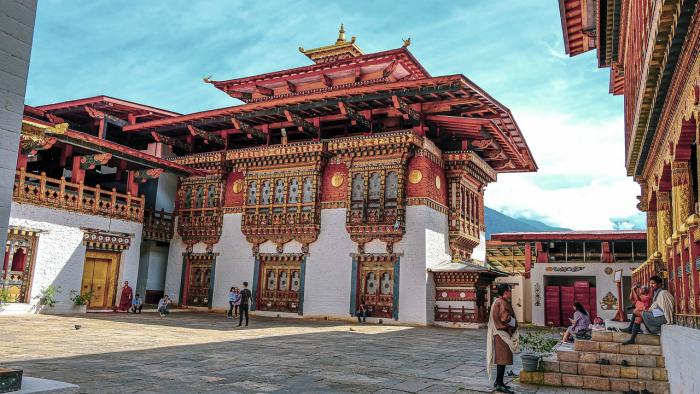 Архитектурные сооружения в Бутане