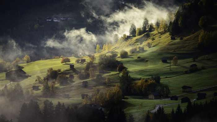 Холмы в тумане
