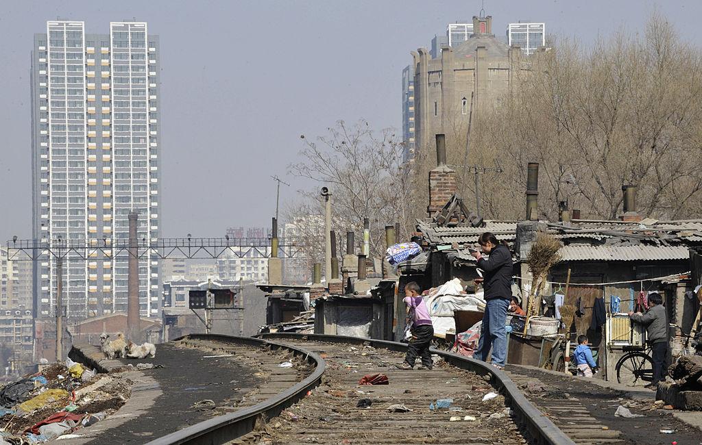 Вид на трущобы в Шэньяне провинции Ляонин, Китай.