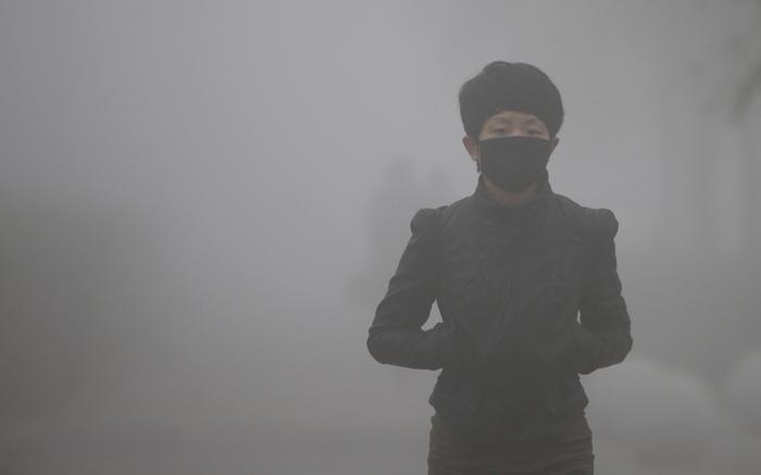 Загрязнение воздуха в китайских городах.