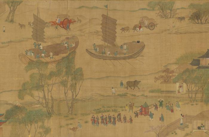 Версия той же сцены времён династии Сун.