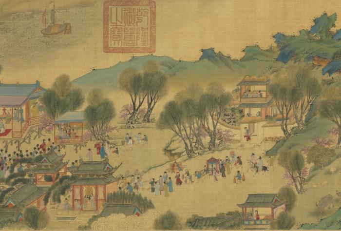 «Вверх по реке в день Цинмин» времён династии Мин.