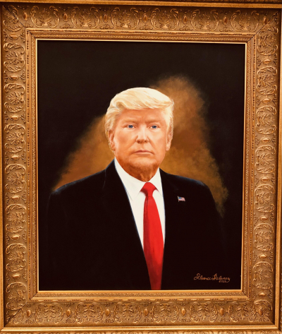 Портрет Дональда Трампа кисти Флоранс Деланей. (С любезного разрешения Моны Шрей)