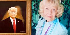 «Я патриотка». Пожилая художница написала портрет Дональда Трампа