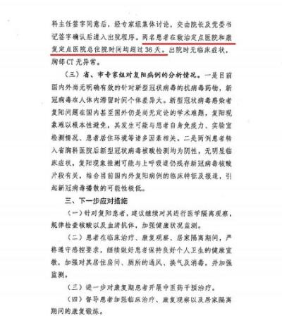 «Свидетельство экспертов по оценке состояния пациентов Цзя и Ханя, восстановившихся и отправленных домой после получения положительных тестов» опубликовано Комиссией по здравоохранению города Шицзячжуан 24 февраля 2021 года. (Скриншот Epoch Times)