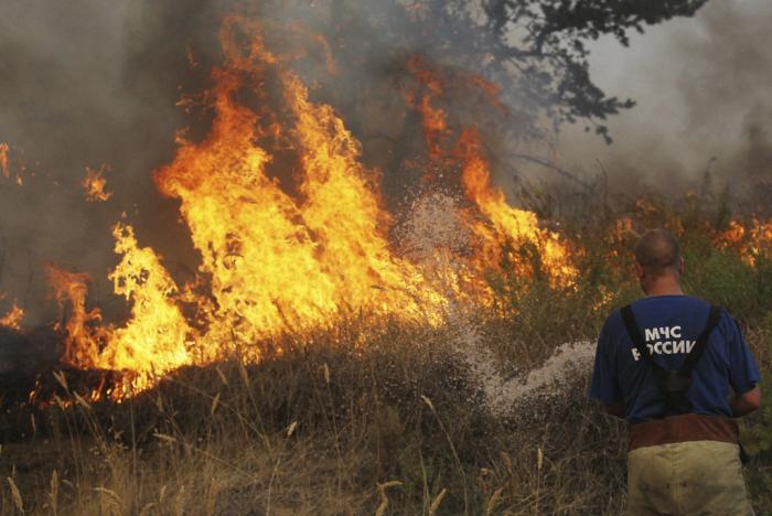 Пожар под Омском уничтожил половину деревни