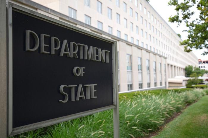 Государственный департамент США в Вашингтоне, 22 июля 2019 года.