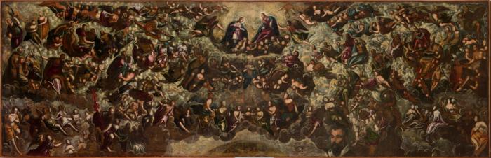 «Рай», эскиз, 1588–1592 гг., Тинторетто. Масло, холст. Коллекция Интеза Санпаоло, предоставленная во временное пользование Фонду Кверини Стампалия в Венеции, Италия.