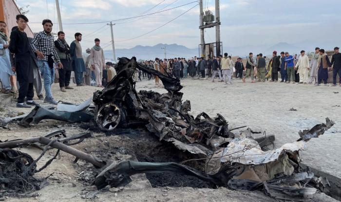 Место взрыва в Кабуле. Афганистан, 8 мая 2021 года.