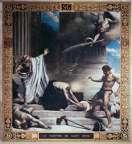 Мученичество Св. Дионисия, 1885 г., художник Леон Бонна, Пантеон, Париж,