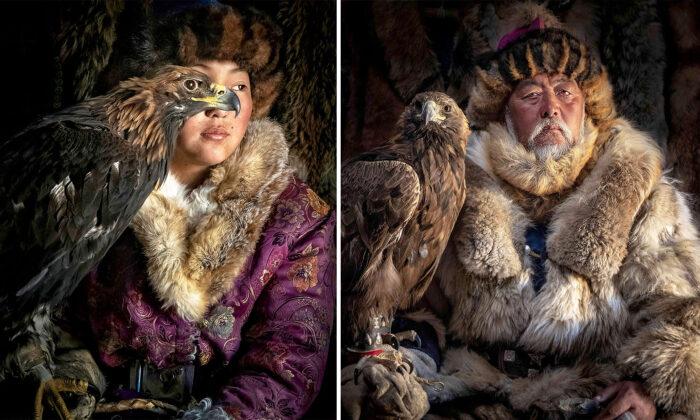 Охота с беркутами в Монголии. Редкие фотографии
