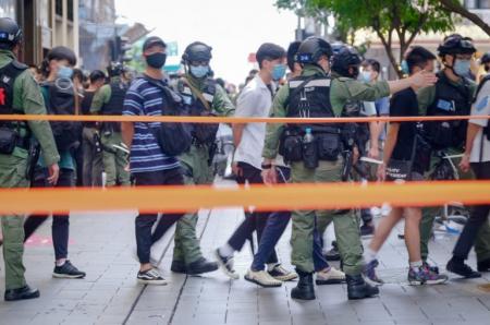Арестованные протестующие