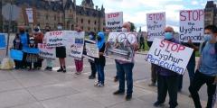 ВКанаде активисты уйгурской общины протестуют против проведения Олимпиады 2022 года вКитае