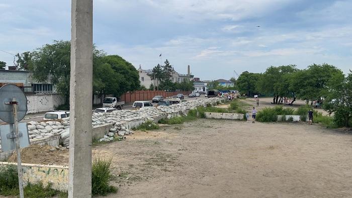 В Благовещенске ввели режим ЧС из-за паводка (Видео)
