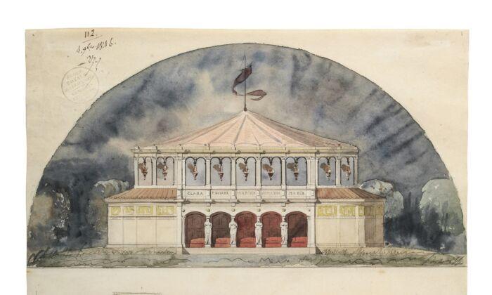 Выставка работ архитекторов Школы изящных искусств XIX века в Париже