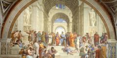Посвящение величайшим мыслителям Запада: «Афинская школа»