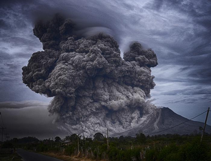 Озоновый слой разрушен из-за извержения древнего вулкана