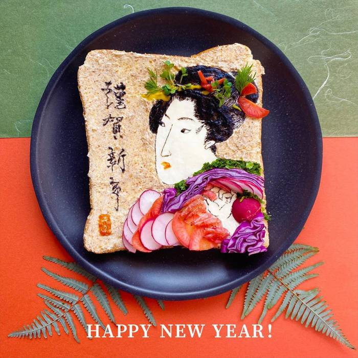 Японский дизайнер превращает тосты в произведения искусства и съедает их