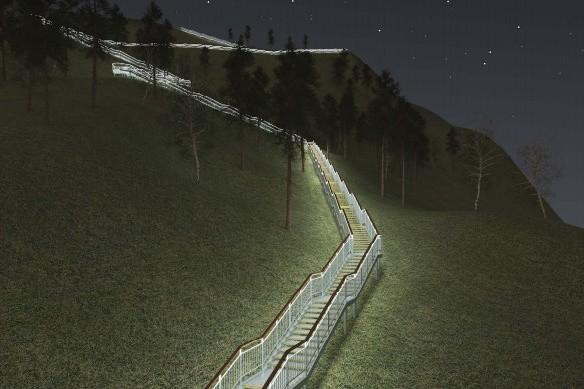 В Красноярске построят самую длинную лестницу в России
