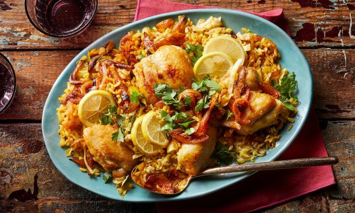 Куриные бёдрышки по-персидски с ароматной начинкой