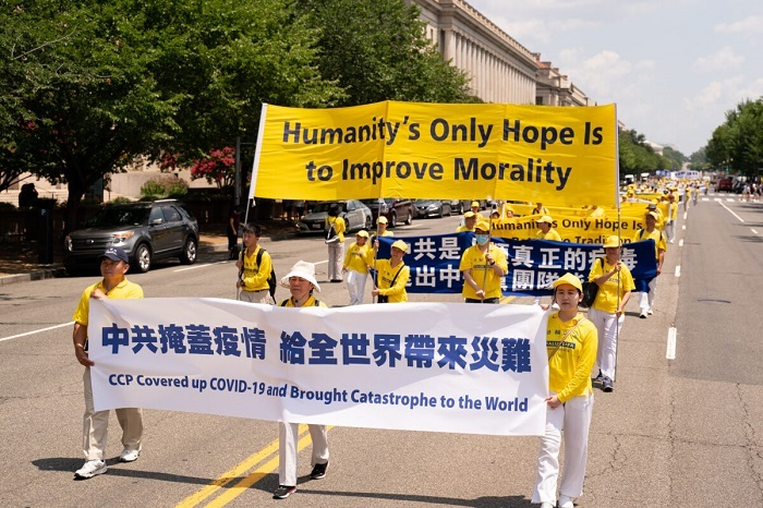 9ED2091 1200x800 1 - Фотогалерея: Марш последователей Фалуньгун в Вашингтоне призывает к прекращению 22-летнего преследования в Китае