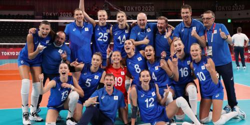Российские волейболистки обыграли команду США и вышли в плей-офф турнира на Олимпиаде
