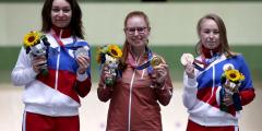 Россиянки завоевали серебро и бронзу Олимпиады в стрельбе из винтовки с 50 м