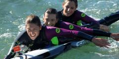 Четыре француженки намерены проплыть расстояние в 8.000 км на гребной доске