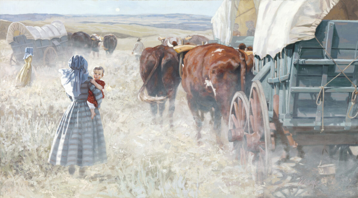 Художница Хайде Пресс в своих картинах воссоздаёт историю США